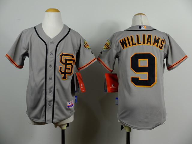 Youth San Francisco Giants 9 Matt Williams Gray 2014 Jerseys