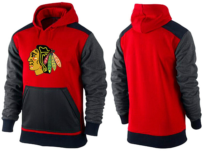 Men Chicago Blackhawks Pullover Hoodie 0150