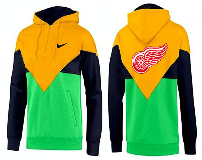 Men Detroit Red Wings Pullover Hoodie 0117