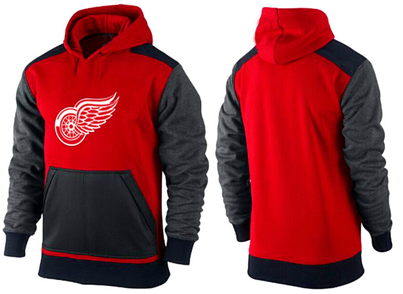 Men Detroit Red Wings Pullover Hoodie 0121