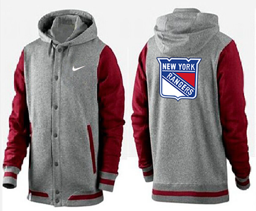 Men New York Rangers Pullover Hoodie 0144