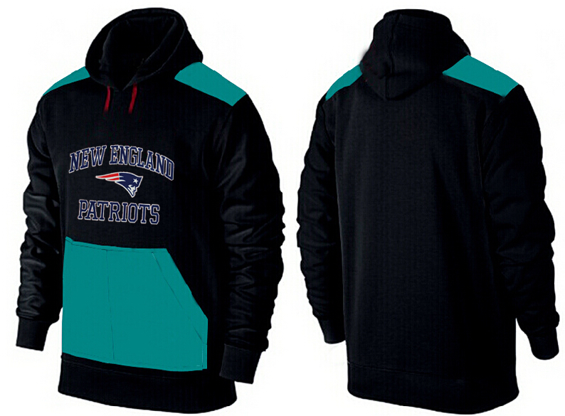 Men New England Patriots Pullover Hoodie 1