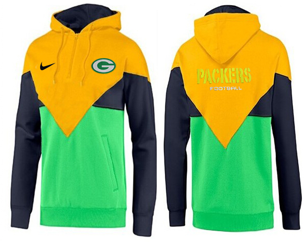 Men Green Bay Packers Pullover Hoodie aa-6