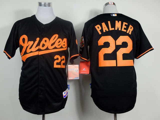 MLB Baltimore Orioles 22 Jim Palmer Black Throwback Jerseys