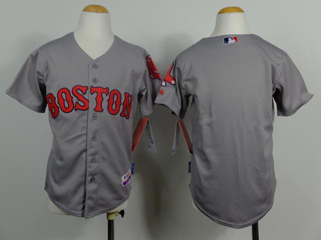 Youth MLB Boston Red Sox Blank Grey 2014 Jerseys