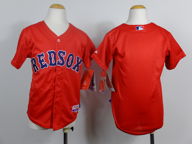 Youth MLB Boston Red Sox Blank red 2014 Jerseys