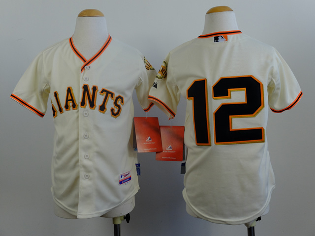 Youth MLB San Francisco Giants 12 Joe Panik Cream 2014 Jerseys