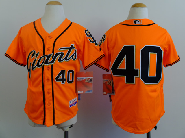 Youth MLB San Francisco Giants 40 Madison Bumgarner 2014 Jerseys