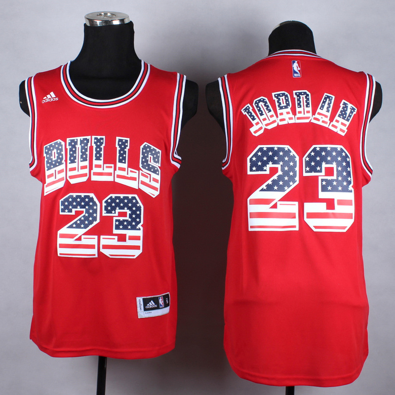NBA Chicago Bulls 23 Jordan red fashion Jerseys