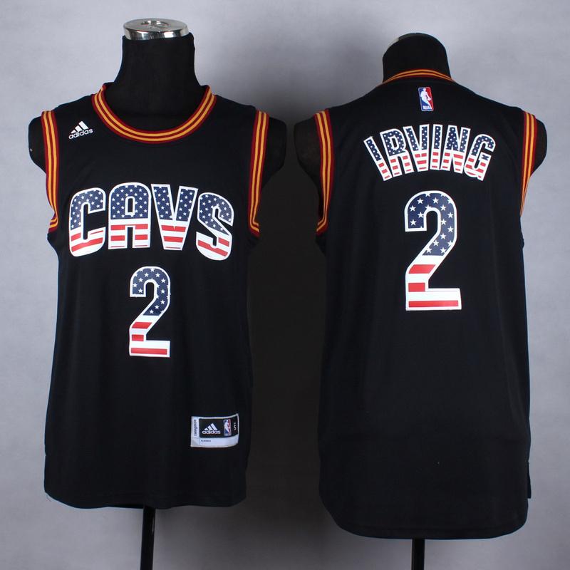 NBA Cleveland Cavaliers 2 Irving black fashion Jerseys
