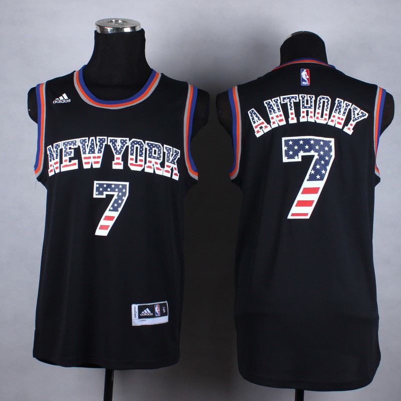 NBA New York Knicks 7 Anthony black fashion Jerseys