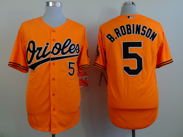 MLB Baltimore Orioles 5 B.Robinson orange Throwback Jerseys