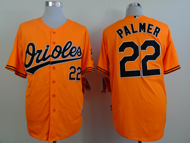 MLB Baltimore Orioles 22 palmer orange Throwback Jerseys
