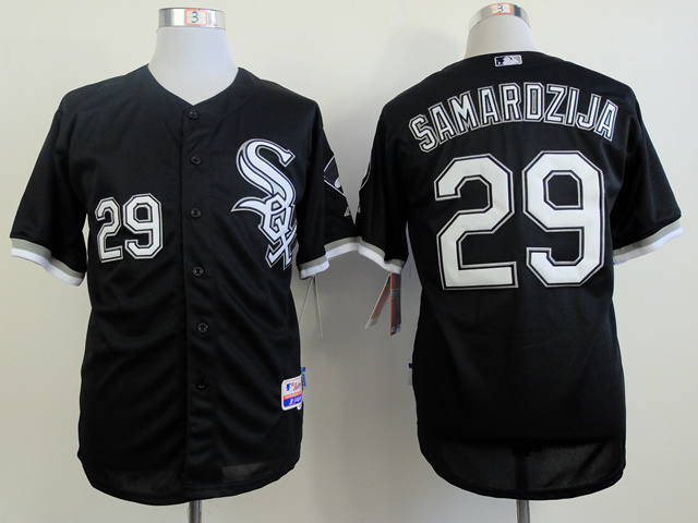 MLB Chicago White Sox 29 samardzija black Jerseys