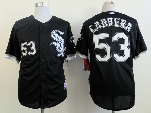MLB Chicago White Sox 53 Cabrera black Jerseys