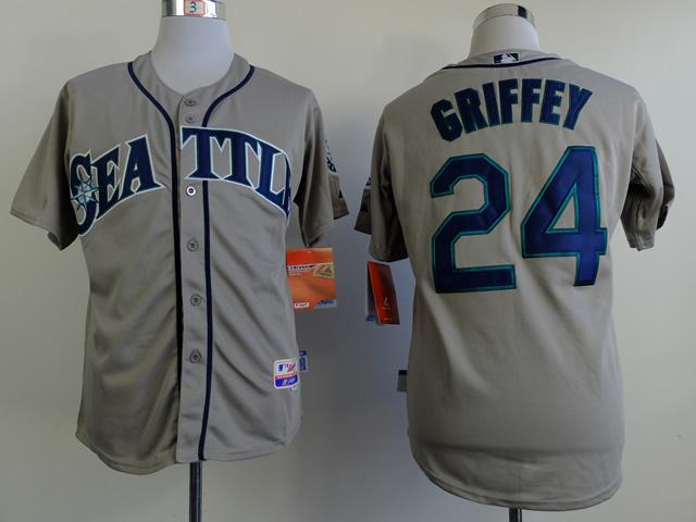 MLB Seattle Mariners 24 griffey grey Jerseys