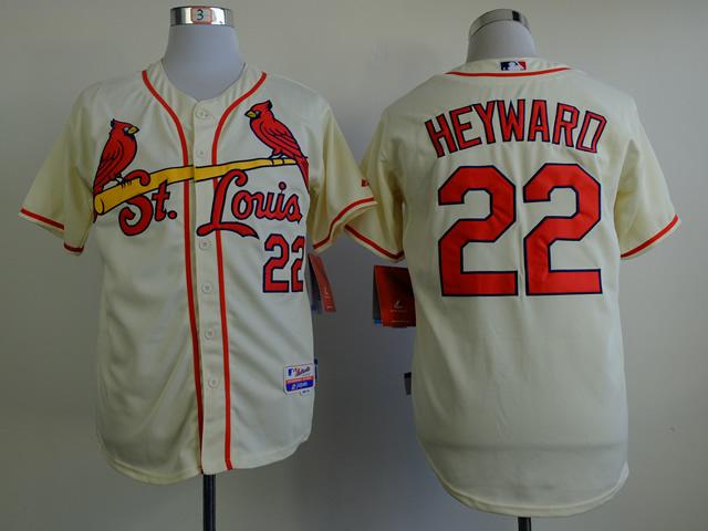 MLB St. Louis Cardinals 22 heyward beige Jerseys