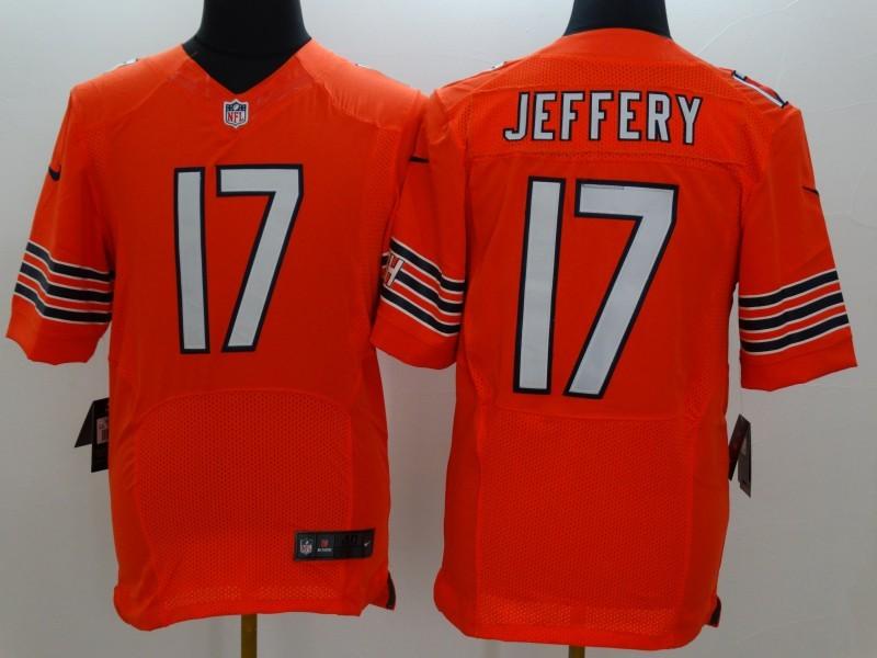 Chicago Bears 17 Jeffery Orange Nike 2015 Elite Jerseys