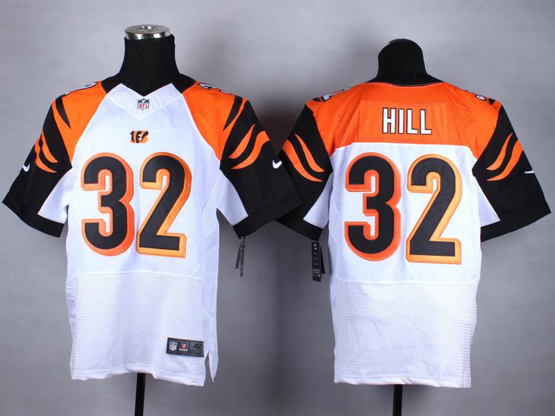 Cincinnati Bengals 32 Hill White Nike 2015 Elite Jerseys