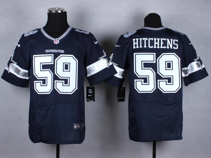 NFL Customize Dallas cowboys 59 Hitchens blue Nike 2015 Elite Jerseys
