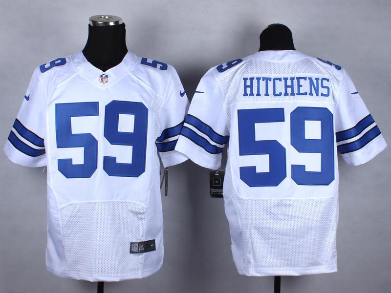 NFL Customize Dallas cowboys 59 Hitchens white Nike 2015 Elite Jerseys