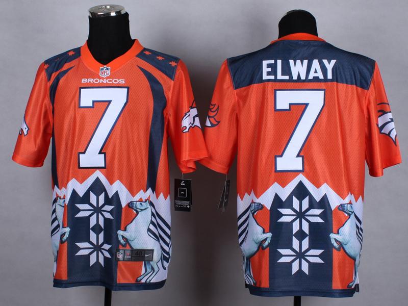 Denver Broncos 7 elway Orange 2015 New Style Noble Fashion Elite Jerseys