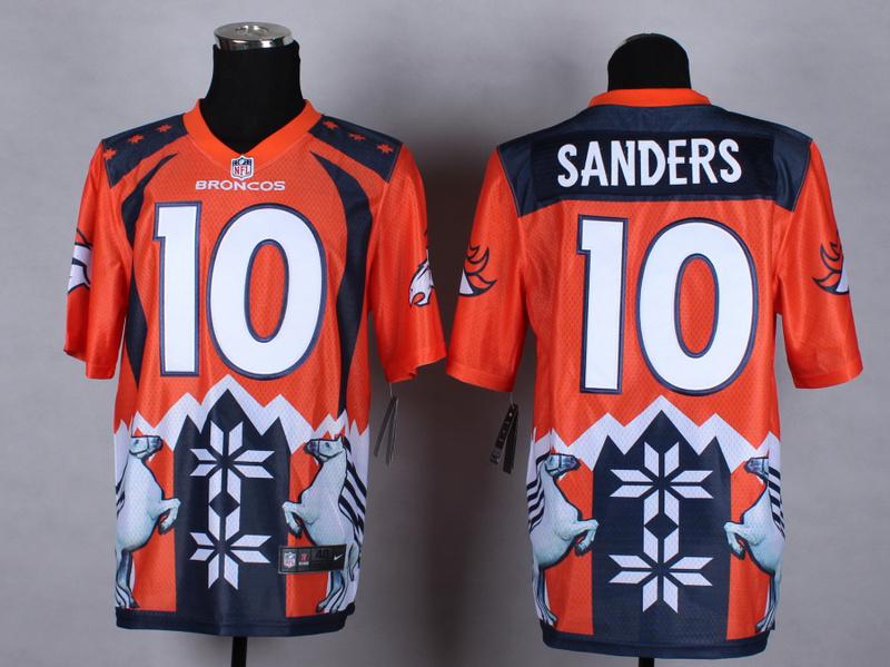 Denver Broncos 10 sanders Orange 2015 New Style Noble Fashion Elite Jerseys