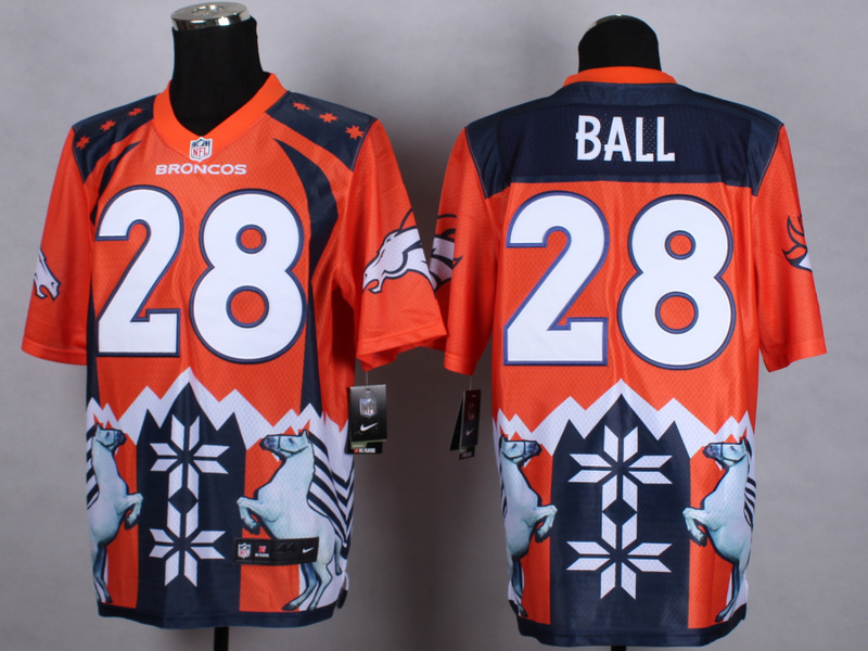 Denver Broncos 28 Ball Orange 2015 New Style Noble Fashion Elite Jerseys