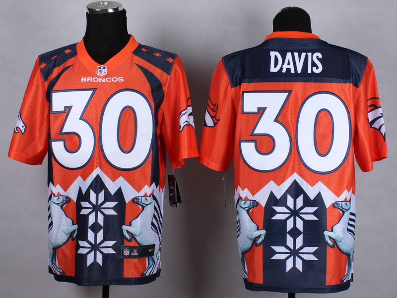Denver Broncos 30 Davis Orange 2015 New Style Noble Fashion Elite Jerseys