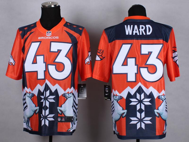 Denver Broncos 43 Ward Orange 2015 New Style Noble Fashion Elite Jerseys