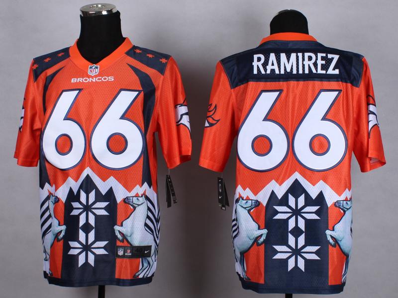 Denver Broncos 66 Ramirez Orange 2015 New Style Noble Fashion Elite Jerseys