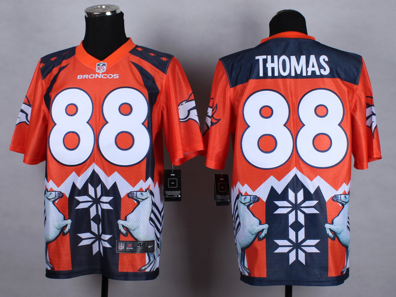 Denver Broncos 88 thomas Orange 2015 New Style Noble Fashion Elite Jerseys