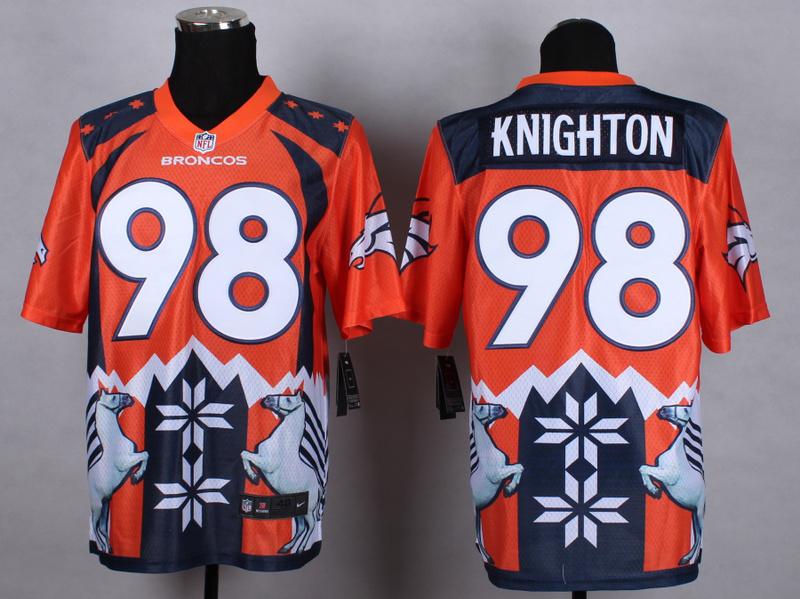 Denver Broncos 98 Knighton Orange 2015 New Style Noble Fashion Elite Jerseys