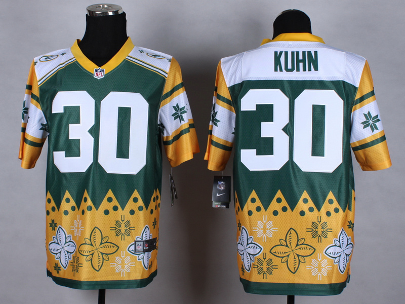 Green Bay Packers 30 Kuhn Green 2015 New Style Noble Fashion Elite Jerseys