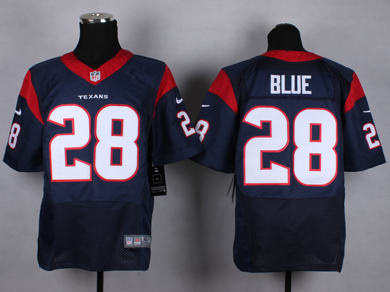 Houston Texans 28 Blue blue Nike 2015 Elite Jerseys