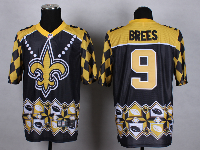 New Orleans Saints 9 brees Black 2015 New Style Noble Fashion Elite Jerseys