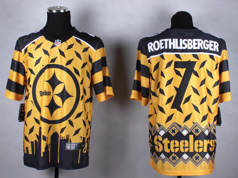 Pittsburgh Steelers 7 roethlisberger yellow 2015 New Style Noble Fashion Elite Jerseys