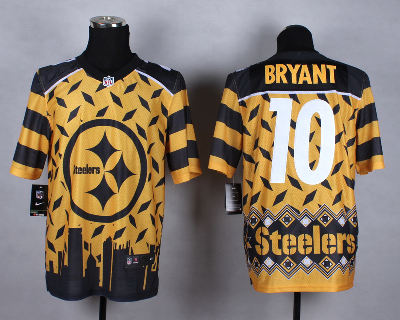 Pittsburgh Steelers 10 Bryant yellow 2015 New Style Noble Fashion Elite Jerseys
