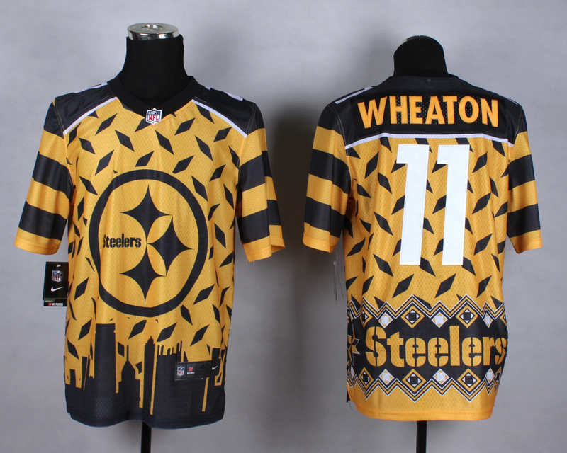 Pittsburgh Steelers 11 Wheaton yellow 2015 New Style Noble Fashion Elite Jerseys