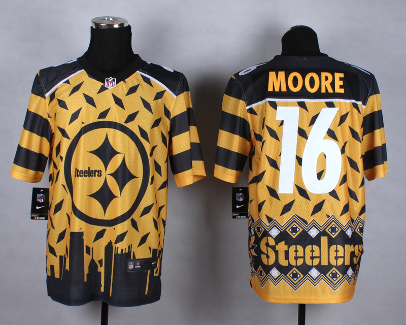 Pittsburgh Steelers 16 Moore yellow 2015 New Style Noble Fashion Elite Jerseys