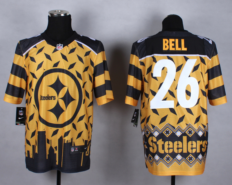 Pittsburgh Steelers 26 bell yellow 2015 New Style Noble Fashion Elite Jerseys