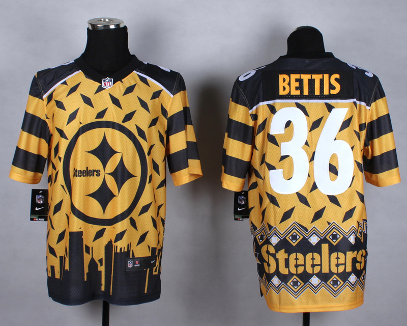 Pittsburgh Steelers 36 bettis yellow 2015 New Style Noble Fashion Elite Jerseys