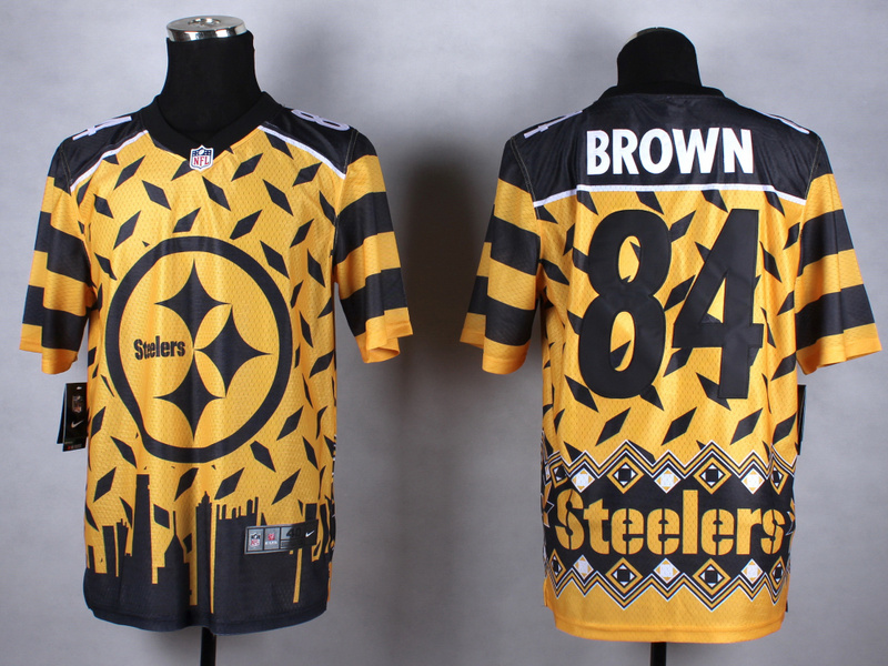 Pittsburgh Steelers 84 brown yellow 2015 New Style Noble Fashion Elite Jerseys