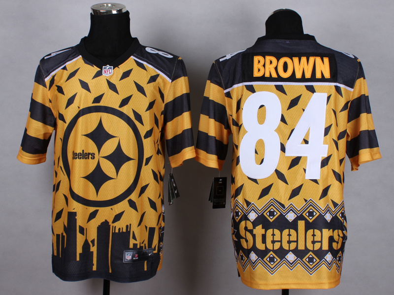 Pittsburgh Steelers 84 brown yellow white 2015 New Style Noble Fashion Elite Jerseys