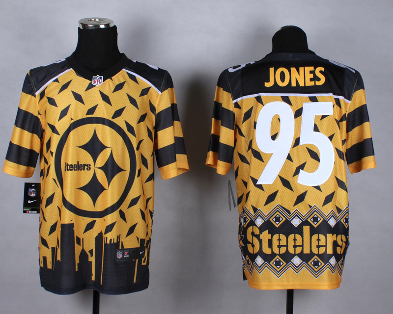 Pittsburgh Steelers 95 jones yellow 2015 New Style Noble Fashion Elite Jerseys