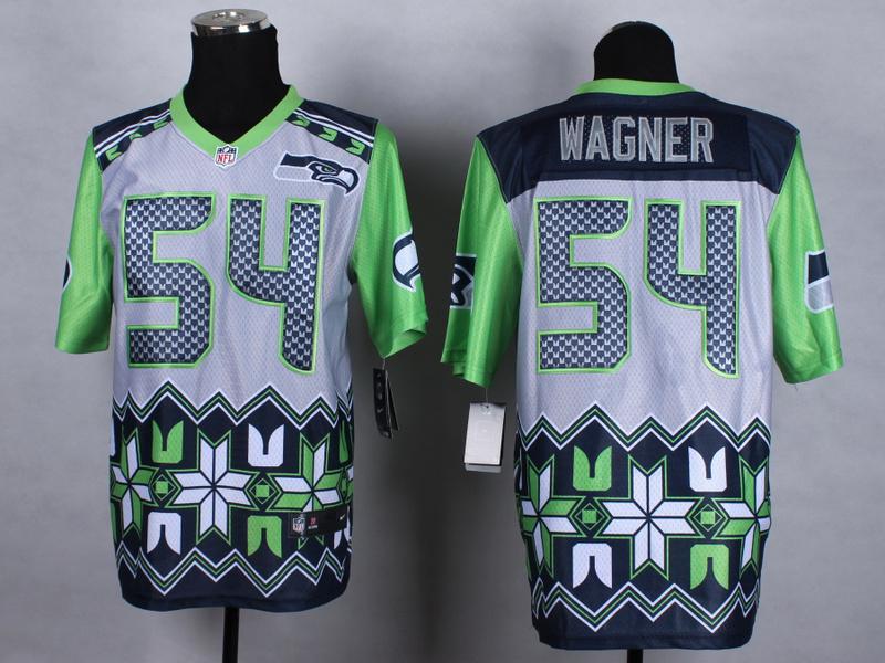 Seattle Seahawks 54 Wagner Grey 2015 New Style Noble Fashion Elite Jerseys