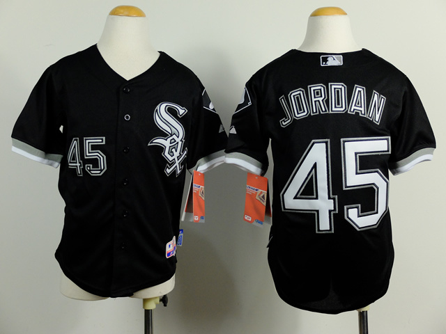 Youth MLB Chicago White Sox 45 Michael Jordan Black 2014 Jerseys
