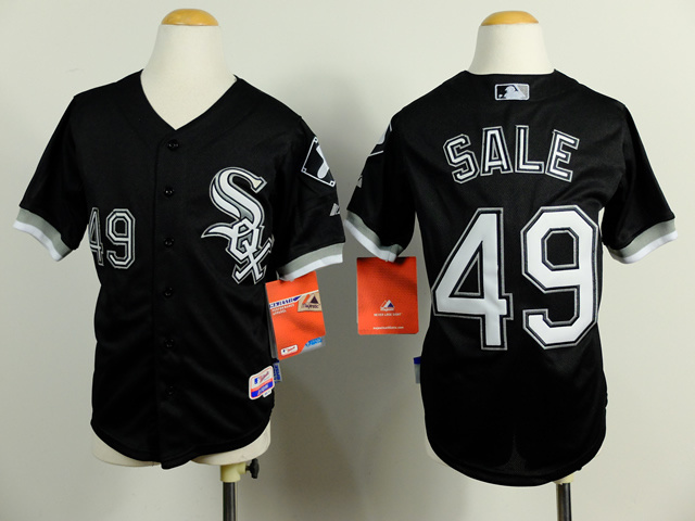 Youth MLB Chicago White Sox 49 Chris Sale Black 2014 Jerseys