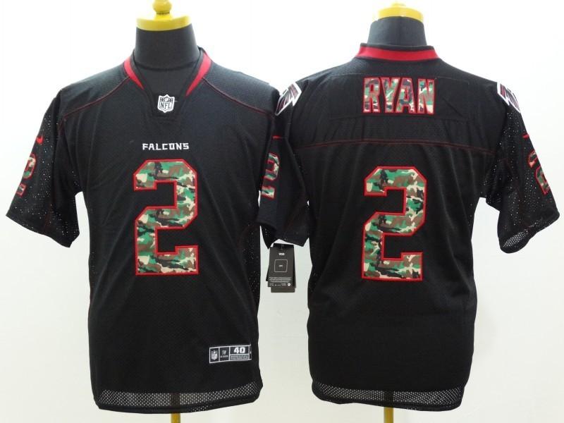 Atlanta Falcons 2 Matt Ryan Black Camo Fashion 2014 New Nike Jerseys
