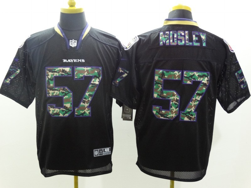 Baltimore Ravens 57 CJ Mosley Black Camo Fashion 2014 New Nike Jerseys